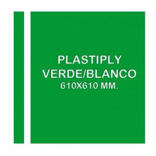 Plastiply Mate ROJO/BLANCO 610x610mm.