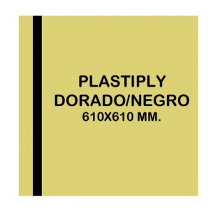 Plastiply Mate AMARILLO/NEGRO 610x610mm.