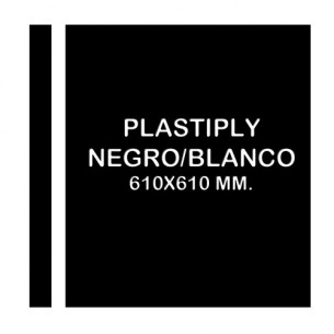 Plastiply Mate NEGRO/BLANCO 610x610mm.