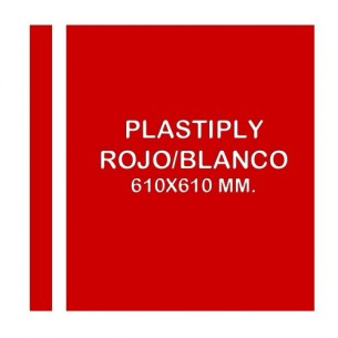 Plastiply Láser Mate ROJO/BLANCO 610x610mm.