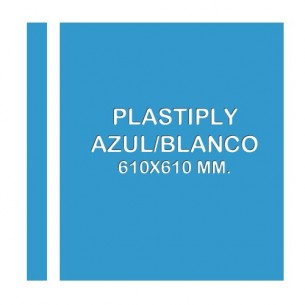 Plastiply Láser Mate AZUL/BLANCO 610x610mm.