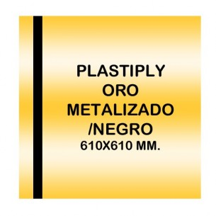 Plastiply láser metalizado ORO METALIZADO/NEGRO 610x610mm.l