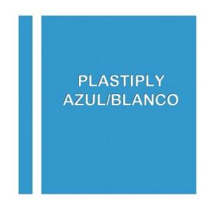 Plastiply Láser 0,2 mm adhesivo Azul/Blanco