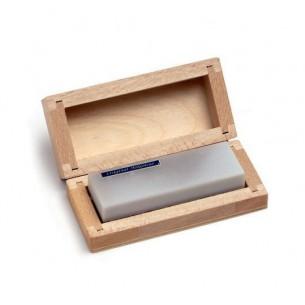 Piedra Arkansas Original 60x25 mm con caja de madera