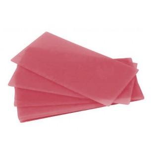 Cera en láminas rosa 0,8 mm. 450 gr.
