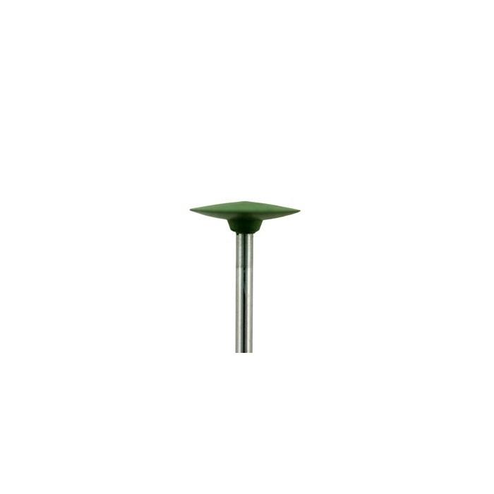 Pulidor montado verde forma lenteja