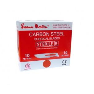 S/M BLADES C/STEEL STERILE