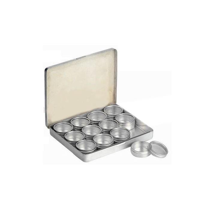 Estuche aluminio 12 recipientes