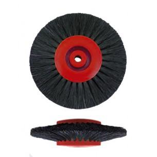 Cepillo pulir Astro rojo cerda negra D75x4H