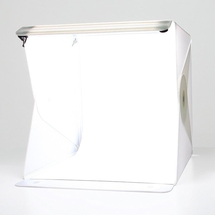 Caja de luz fotográfica plegable 40x40 cm. luz regulable