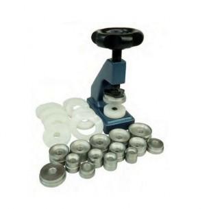 Prensa cerrar fondos y colocación de cristales con tases