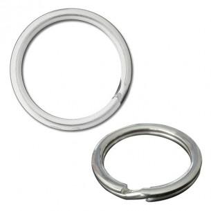 Llavero plata cerrado sin cadena 18 mm