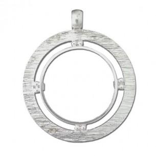 Cerco de plata textura doble