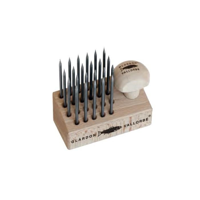 Juego 12 perleros base madera Vallorbe