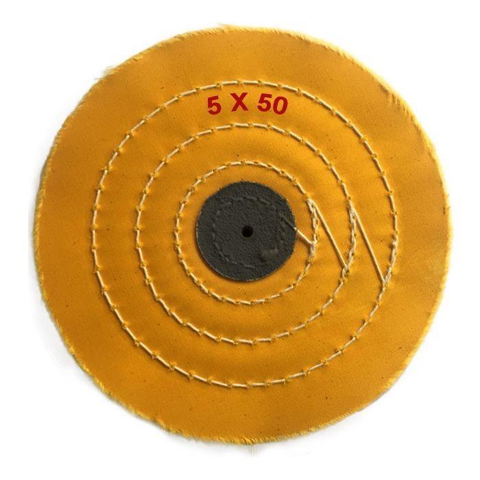 Disco tela amarillo 125x50 capas