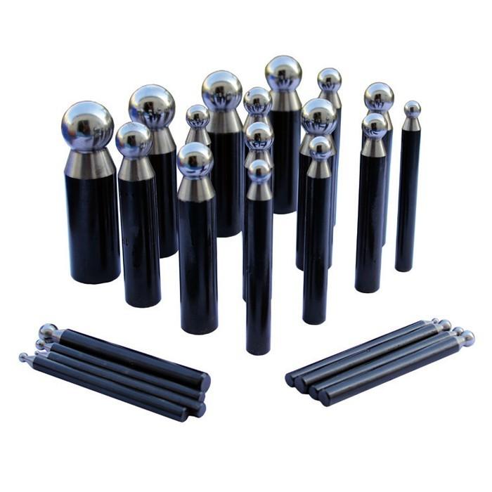 Juego de 24 embutidores de acero 2,35 a 25 mm.