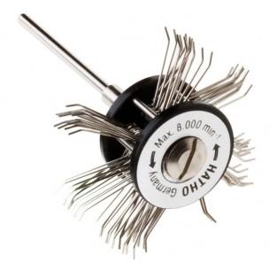 Cepillo montado púas acero Hatho acero Minimat 0,45
