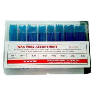 Surtido hilos redondos cera azul Vigor 0,90 a 4,10 mm.