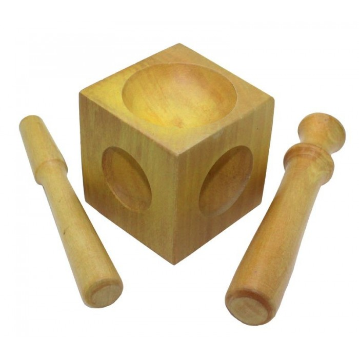 Juego embutidora+2 embutidores de madera