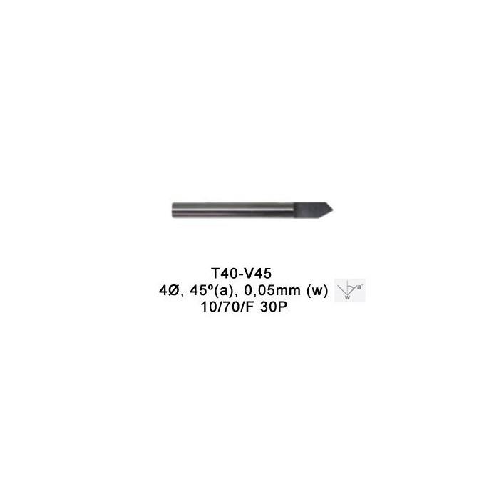 Fresa V-Cutter 45º diamanrtado 0.05 tip para MAGIC