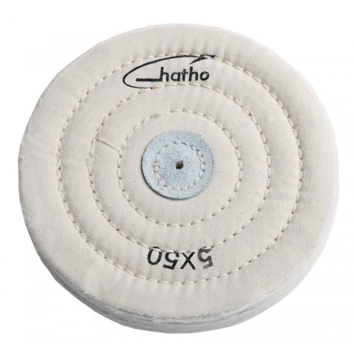 Disco de algodón blanco Hatho 50 hojas 125x15 mm.