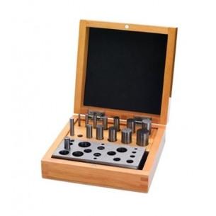 Corta discos de 14 piezas 2,77 a 15,87 mm. con caja de madera