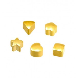 GOLDEN ASSORTED SHAPES STUDS