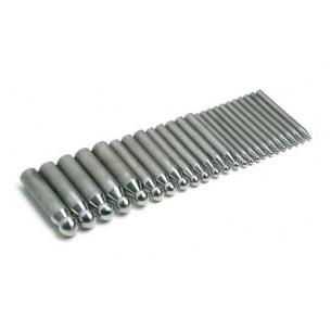 Juego de embutidores de acero 24 piezas 2,3 a 25 mm.