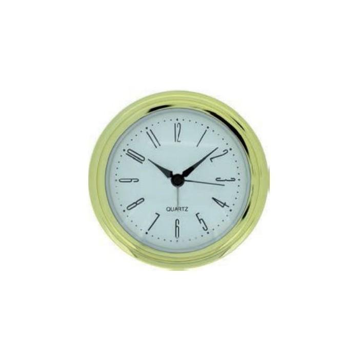 Movimiento reloj empotrar dorado 75 mm./55 mm.