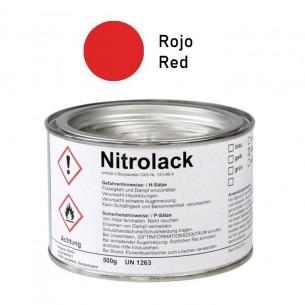 Pintura roja brillante para grabado Nitrolack 500 g.