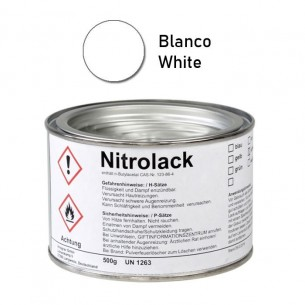 Pintura blanca brillante para grabado Nitrolack 500 g.