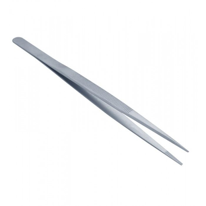 STAINLES STEEL TWEEZERS 16 cm WITH INNER GROOVES (A)