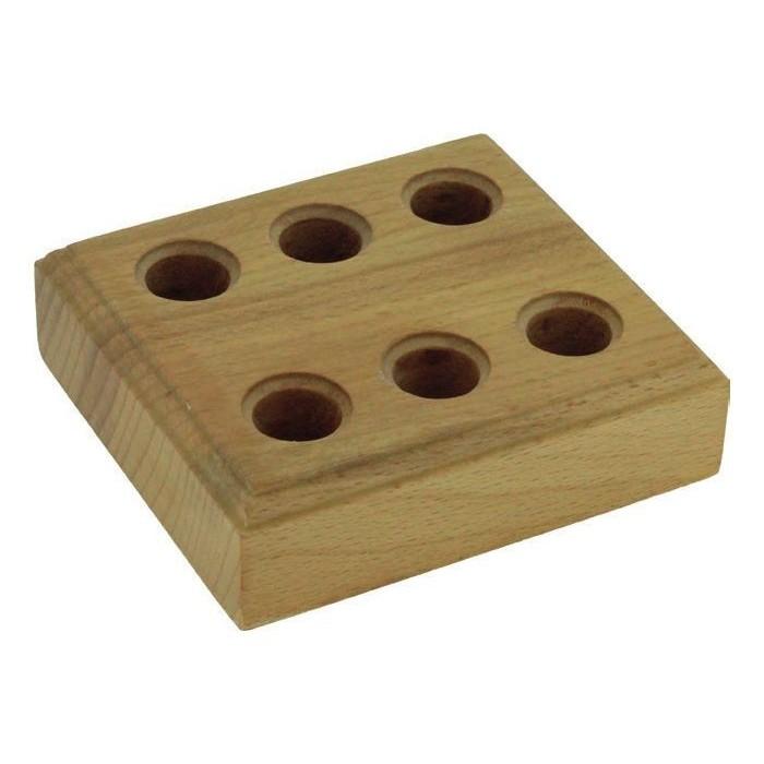 Soporte de madera para 3 alicates