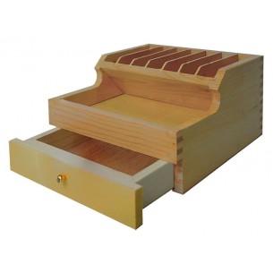 Caja de madera para mesas profesionales