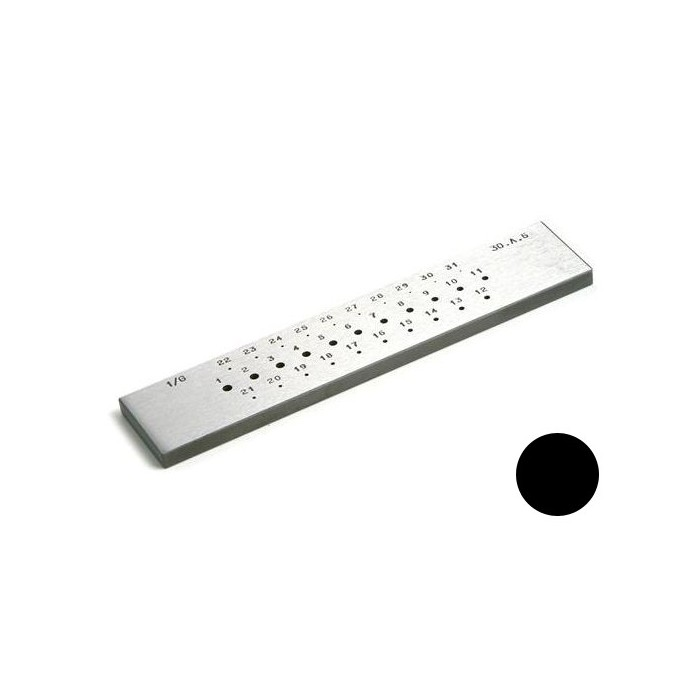 ROUND DRAWPLATES 31 HOLES (6a3 mm)