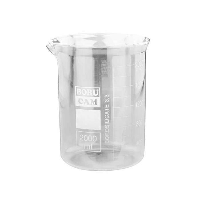 Vaso de cristal 2.000 c.c. graduado para máquina de baños