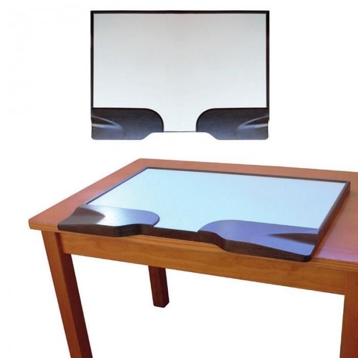 Tapa mesa de relojero de madera con reposabrazos