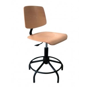 CHAIR MOD.M-1-A G 42/55 cm WOOD WITH RING