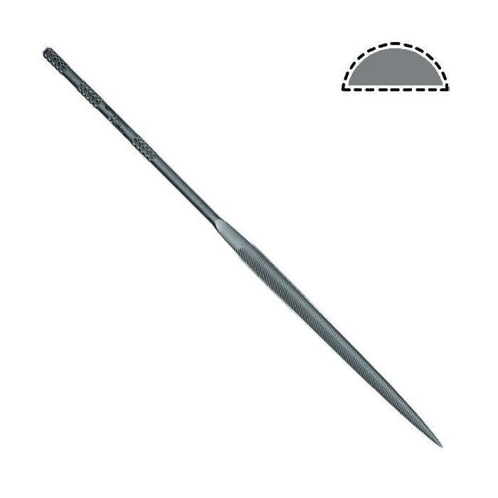 Lima aguja mango redondo mediacaña 140 mm