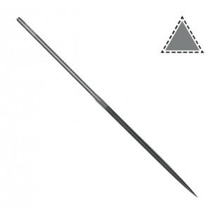 Lima aguja mango redondo triangular 140 mm