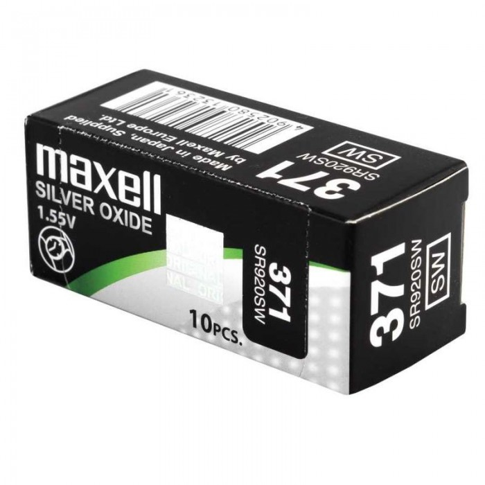 Pila de reloj 10 unidades Maxell 377