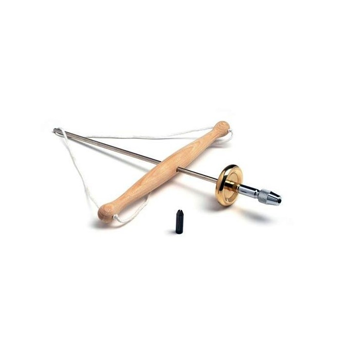 HAND DRILL WITH TWO CLAMPS