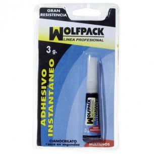Pegamento instantáneo cianocrilato 3 gramos Wolfpack