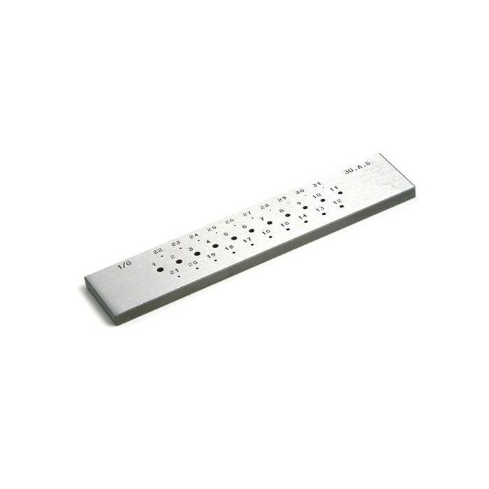 ROUND DRAWPLATE 31 HOLES (3 TO 0,5)