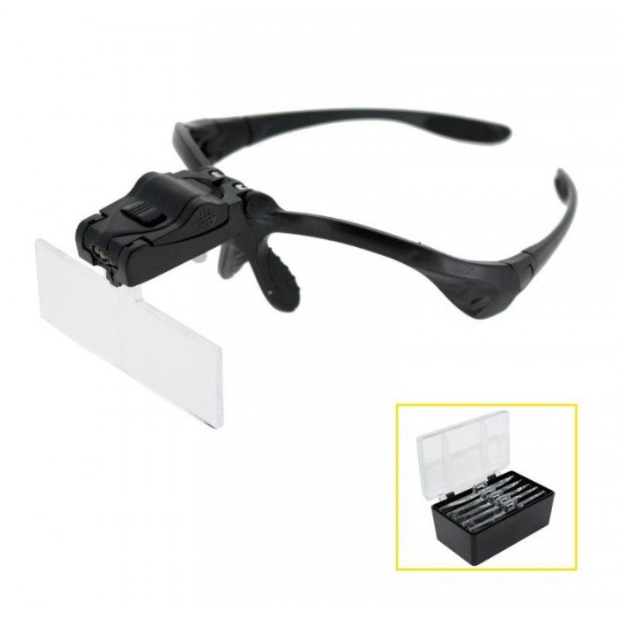 Lupas Binoclares con montura 5 lentes