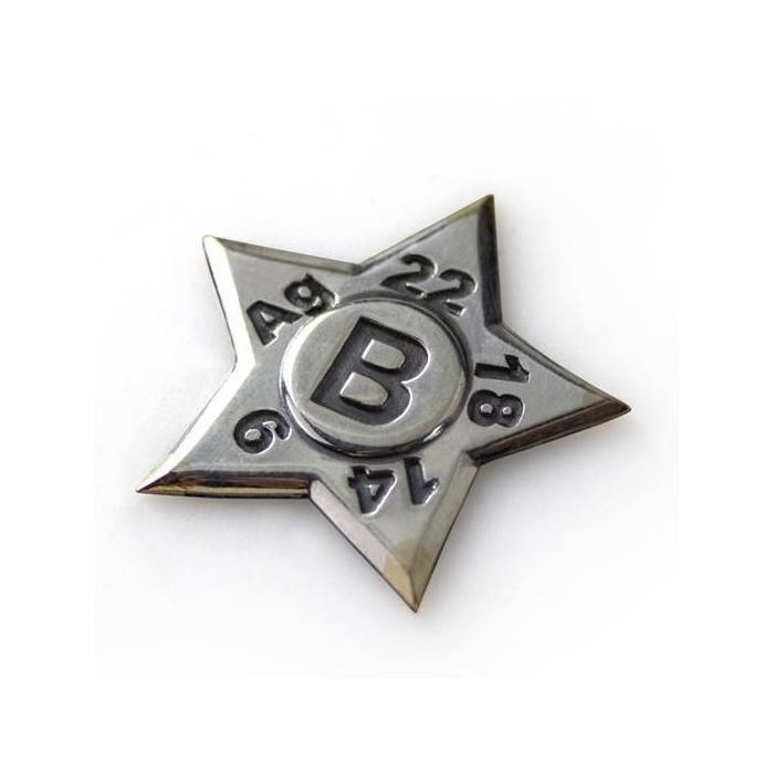 Estrella de toque de plata Technoflux 9 a 22 quilates y plata