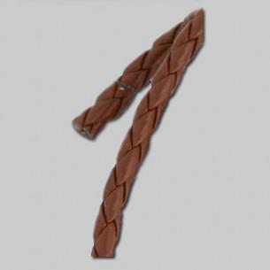 Cuero trenzado marrón